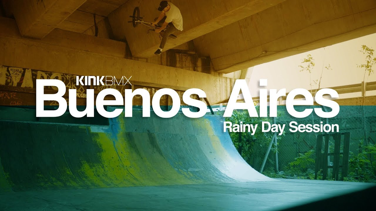 Extreme Rainy Day Kink BMX Ramp Session!