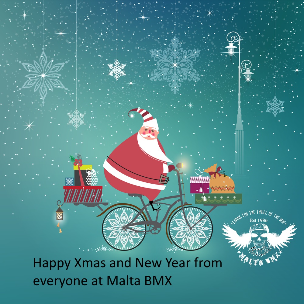 Happy Xmas from Everyone at Malta BMX – BMX School to Resume on the 5th of January, Racing on the 6th.